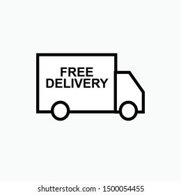 Delivery Icon  - Vector, Sign and Symbol for Design, Presentation, Website or Apps Elements.
