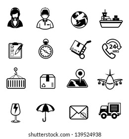 Delivery and Logistic Shipping icons Vector