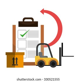 Delivery and logistics business graphic design, vector illustration.