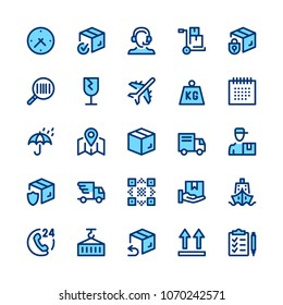 Delivery, logistics line icons set. Modern graphic design concepts, simple symbols, elements, pictograms collection. Minimal thin line design. Premium quality. Pixel perfect. Vector outline icons