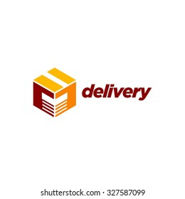Delivery Logo Template. Handing box logo