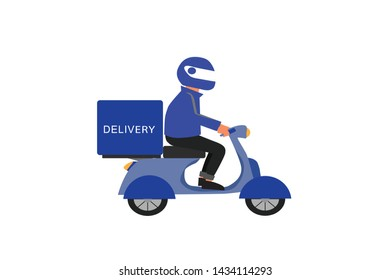 The delivery man character for design