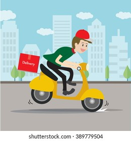 Delivery man  service.