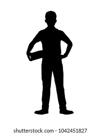 Delivery man silhouette vector