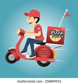 Delivery man. Vector illustration