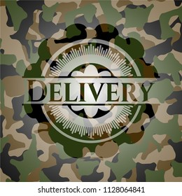 Delivery on camo pattern