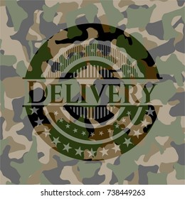 Delivery on camo texture