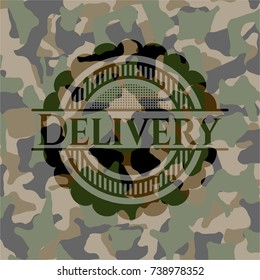 Delivery on camouflage pattern