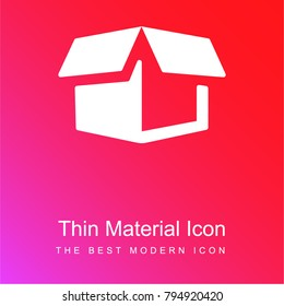 Delivery package opened red and pink gradient material white icon minimal design