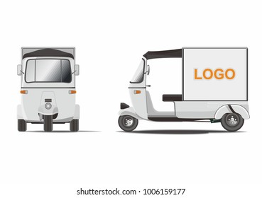 Delivery Rickshaw Vector