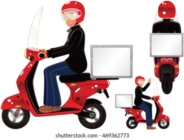 Delivery scooter.