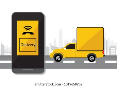 Delivery service, application call delivery by smartphone
