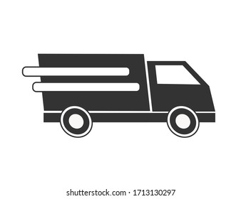 Delivery service car icon. Delivery sign vector eps10. Delivery truck.