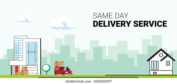 Delivery service, A courier company that delivers messages, packages, and mail. a  service delivery framework. operation and retirement of services delivered by a service provider. flat vector