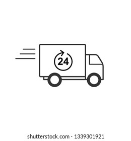 Delivery Service Icon. Shipping Order Illustration As A Simple Vector Sign & Trendy Symbol for Design and Websites, Presentation or Mobile Application.,