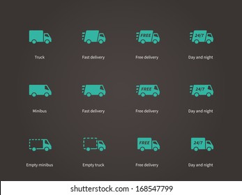 Delivery Service icons. Vector illustration.