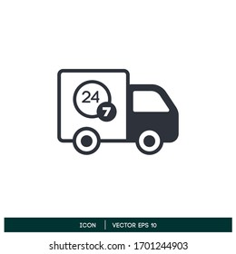 delivery service non stop icon design element vector eps 10