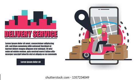 Delivery Service Vector Design
