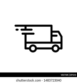 Delivery and shipping icon transportation vector illustration logo template. EPS 10