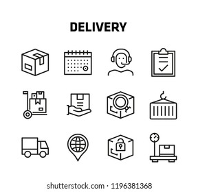 Delivery Thin Line Icons for websites and mobile apps