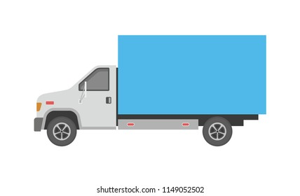 Delivery truck. flat style. isolated on white background