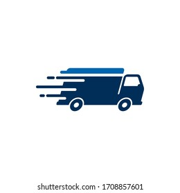 Delivery Truck icon design. Freight forwarding services logo design element.