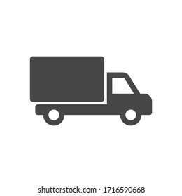 Delivery Truck icon in flat style isolated on white background. Vector illustration.