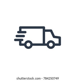 Delivery truck icon. Isolated van and delivery truck icon line style. Premium quality vector symbol drawing concept for your logo web mobile app UI design.