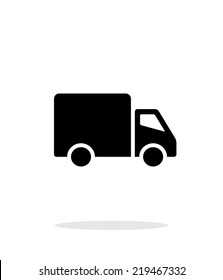Delivery Truck icon on white background. Vector illustration.