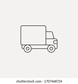 Delivery truck icon sign vector,Symbol, logo illustration for web and mobile