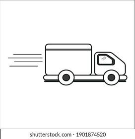delivery truck icon simple symbol