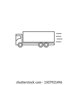 Delivery Truck icon template color editable. Delivery Truck symbol vector sign isolated on white background.