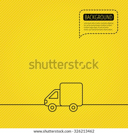 Delivery Truck Icon Transportation Car Sign Stock Vector