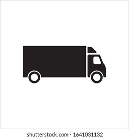 Delivery truck icon. Van flat sign design. Truck symbol pictogram. EPS 10 vector sign