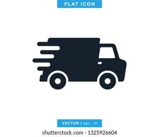 Delivery Truck Icon Vector Design Logo Template