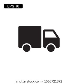 delivery truck icon vector illustration logo template