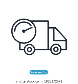 Delivery truck logistics icon. fast delivery shipping symbol template for graphic and web design collection logo vector illustration