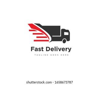 Delivery Truck Logo Icon Design Vector