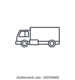 delivery truck outline icon
