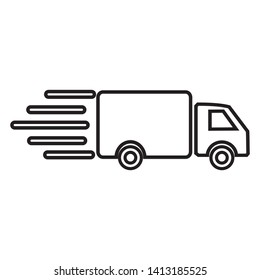 delivery truck vector icon line