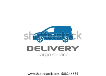 8d6694ceed Delivery van car Logo design vector template. Cargo Auto Vehicle silhouette  Logotype icon