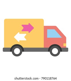 Delivery Van Flat Colored Icon