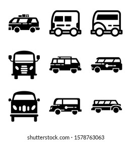 delivery van icon isolated sign symbol vector illustration - Collection of high quality black style vector icons