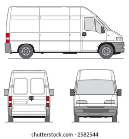 Delivery Van - Layout for presentation - vector template