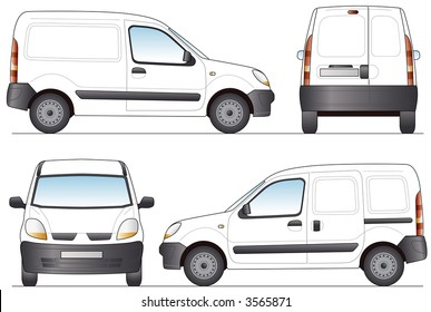 Delivery Van - Layout for presentation - Vector