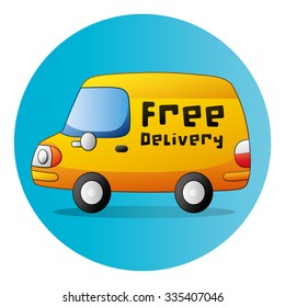 26b3fa071f55dc Fast Shipping Delivery Truck Flat Icon Stock Vector (Royalty Free ...