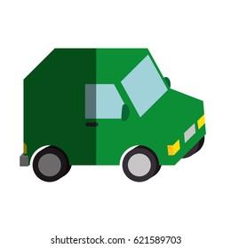 delivery van vehicle isolated icon