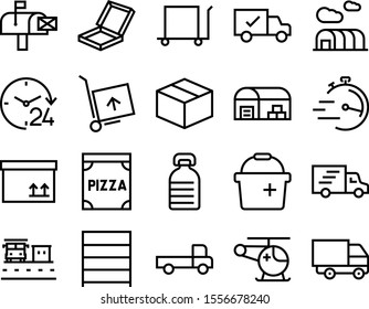 delivery vector icon set such as: moving, bottle, unit, clinic, commerce, rack, medicine, emergency, worker, clear, gallon, aircraft, simple, buy, chopper, drink, aid, market, clean, wall, running