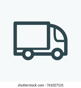 Delivery vehicle icon, delivery truck vector icon