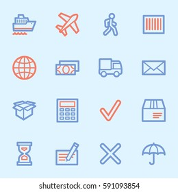 Delivery web icons set